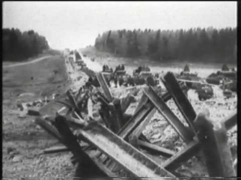 Бои на Бородинском поле. Кадры немецкой кинохроники 1941 г.