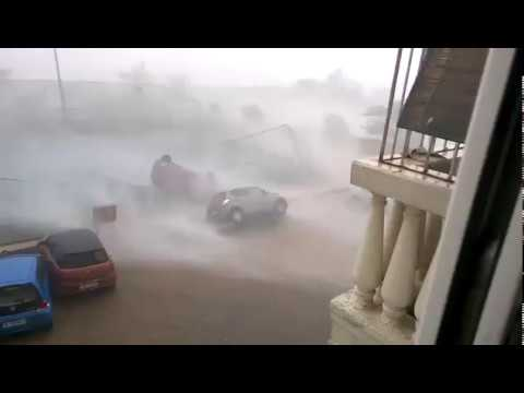 Cars flying through the air in massive storm Cape Town South Africa