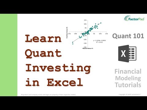 Learn Quantitative Investing In Excel | Financial Modeling Tutorials