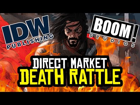 Comic Book Direct Market DEATH RATTLE! IDW, Boom Try to SURVIVE!