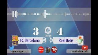 Germán García | Goles | FC Barcelona 3-4 Real Betis | La Liga | Audio RNE 11/11/2018