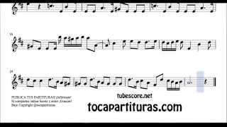 Bocherini Minuet Sheet Music for Violin in G Major Minueto de Bocherini Partitura de Violín
