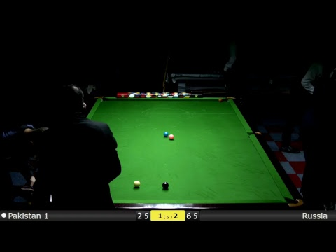 Snooker World Team Cup Groups : Pakistan 1 vs Russia