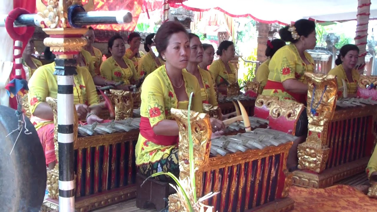 Traditional Wedding Ceremony Music: Traditional Gamelan Music In A Hindu Wedding Ceremony In