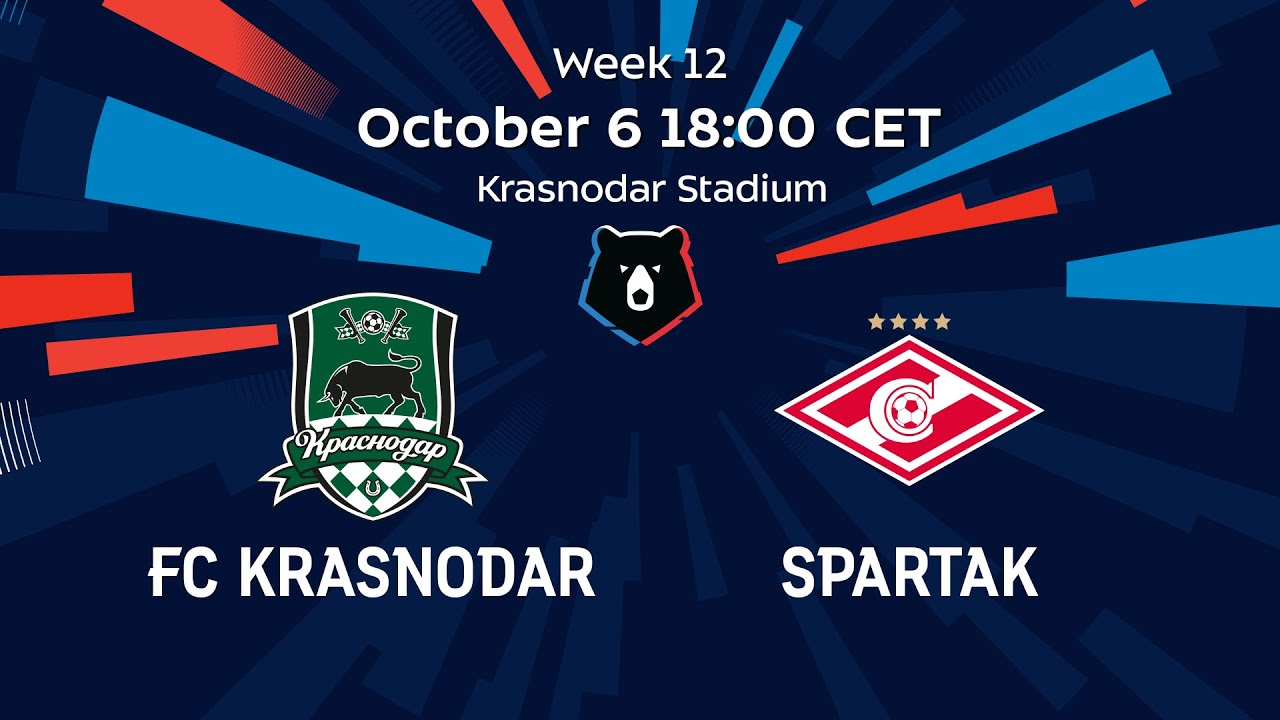 Fc Krasnodar Vs Spartak Week 12 Rpl 2019 20 Youtube