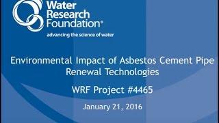 Environmental Impact of Asbestos Cement Pipe Renewal Technologies