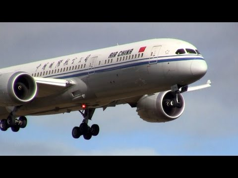 Air China ► Boeing 787-9 Dreamliner ► Landing ✈ Auckland Airport