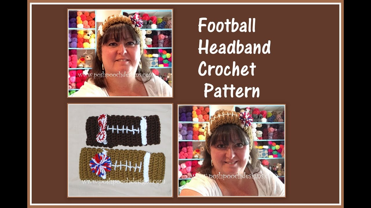 Football Headband Crochet Pattern - YouTube 1c4b60c97a4
