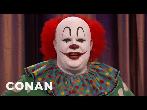 Butterscotch The Clown Isn't Happy With 'IT'  - CONAN on TBS