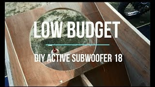 DIY active SUBWOOFER 18 inch Resimi