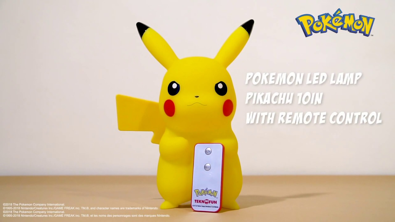 Remote Pikachu Control Led Pokémon Lamp With Teknofun 10in 4RLA5j