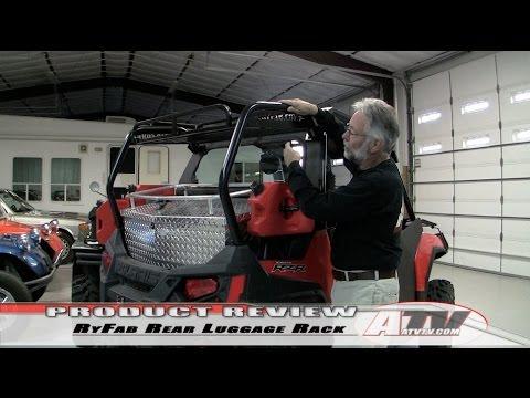 Atv Television Ryfab Polaris Rzr Rear Luggage Rack Youtube