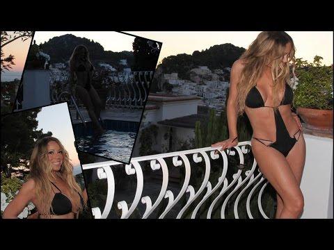 Mariah Carey i en minimal bikini