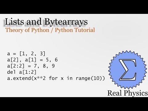 Lists and Bytearrays (Theory of Python) (Python Tutorial) thumbnail