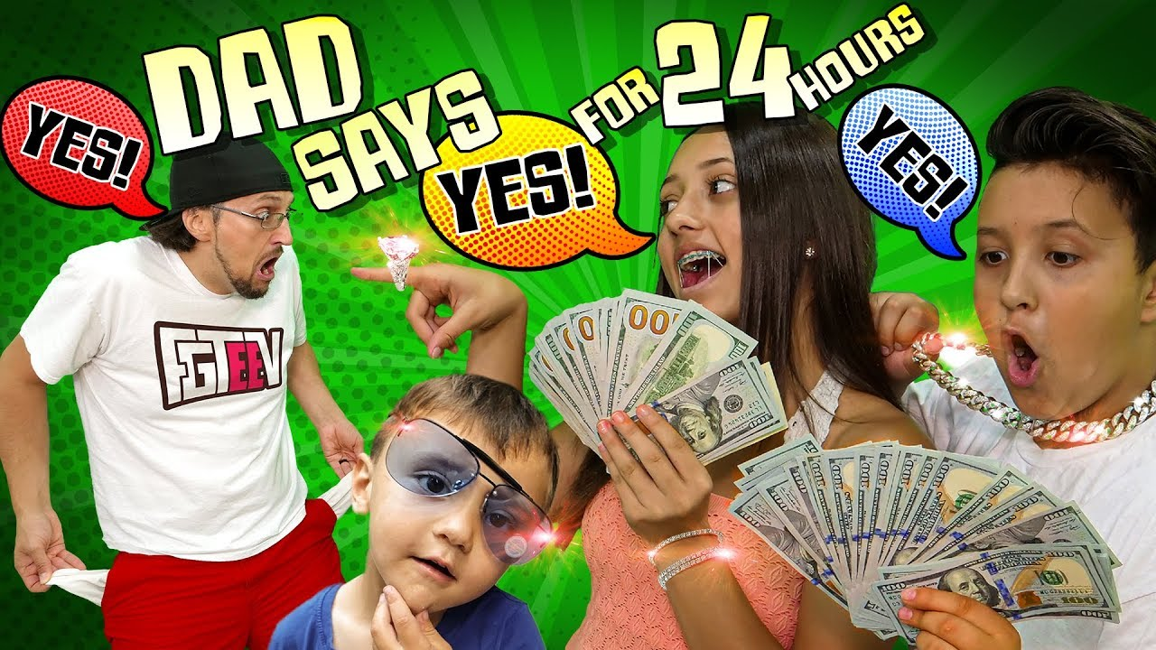 Download DAD SAYS YES to EVERYTHING KIDS WANT for 24 HOURS! (If Kids Were in Charge Challenge)