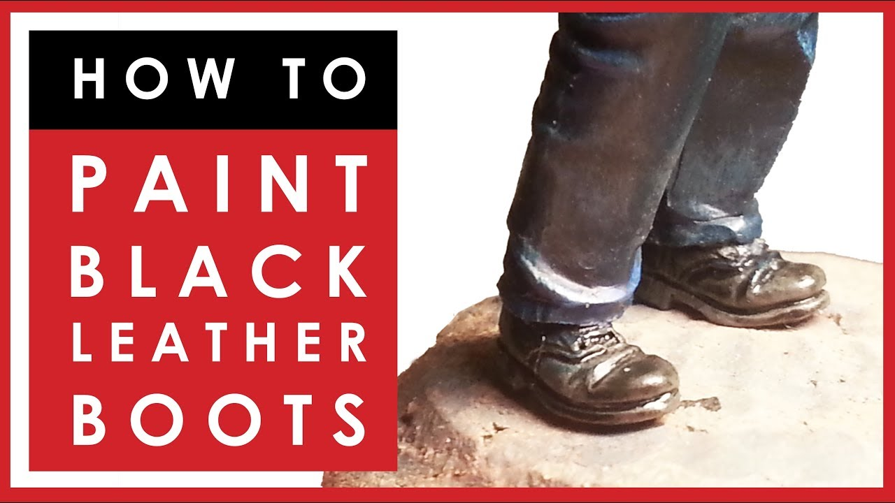 How to easily paint black leather boots