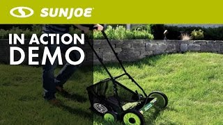 MJ502M - Sun Joe Mow Joe 20-IN Manual Reel Mower w/ Grass Catcher - Live Demo