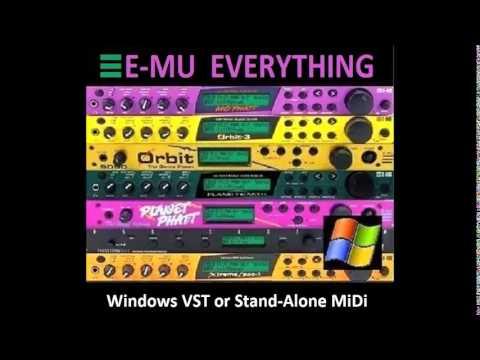 E-MU Proteus Modules for Windows VST Plug-In & Stand-Alone EMU Mo'Phatt Virtuoso