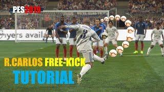 PES2019 Roberto Carlos Free Kick Tutorial