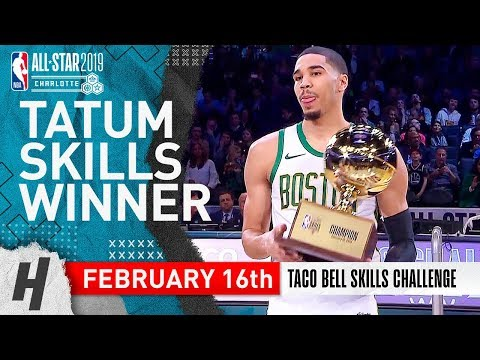 DJ Pup Dawg - Tatum brings home the Skills Trophy back to Boston with this crazy shot