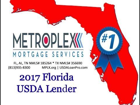 Metroplex Mortgage Services #1 ranked Florida USDA Approved Lender!
