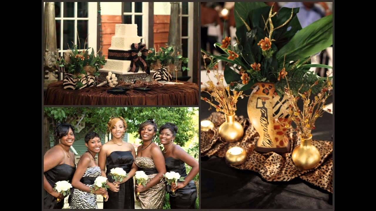 African themed wedding decorations ideas youtube african themed wedding decorations ideas junglespirit Images