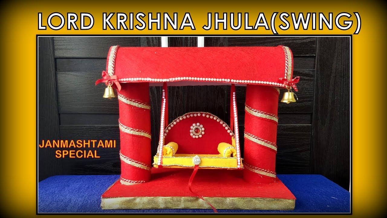 Lord Krishna #Jhula (SWING) #diy || #janmashtami ...