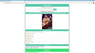 HOW TO DOWNLOAD TAMIL FULL MOVIE IN APLAYTAMIL FOR FREE