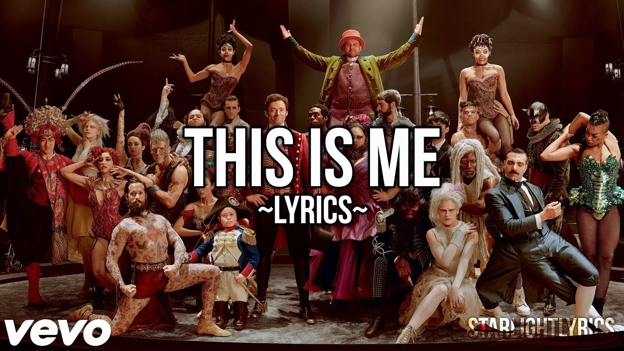 The Greatest Showman This Is Me Lyric Video Hd Youtube