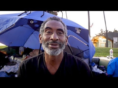 Venice Beach Homeless Man Has Lived in Tent for Five Years