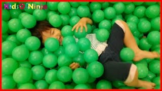 Indoor Playground Family Fun GIANT BALL PIT Kids Video