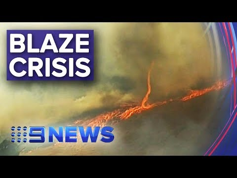 CFS Fight Flare Update Ahead Of Dangerous Weather | Nine News Australia