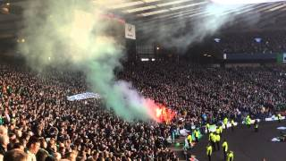 On tour: The Old Firm: Celtic vs. Rangers 2-0 (01-02-2015) Green Brigade pyro show!