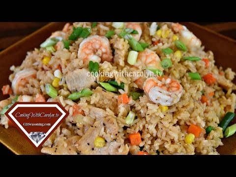 Easy Homemade Shrimp And Chicken Fried Rice Recipe |BETTER THAN TAKE-OUT |Cooking With Carolyn