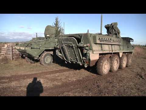 1st Squadron (Stryker) 2nd Cavalry Regiment Trains with NATO Partners in Estonia