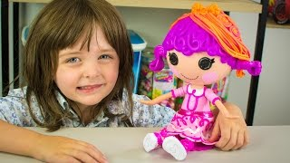 Lalaloopsy Hair Dough Doll Tress Twist 'N' Braid Play Doh Design Toy for Girls Kinder Playtime
