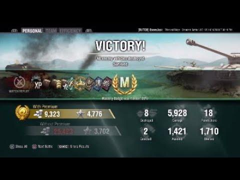 World of Tanks - WZ-120 - Thiepval Ridge - 6k Ace Tanker & Radley-Walters