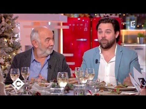 Isabelle Mergault, Gérard et Arthur Jugnot au dîner - C à Vous - 18/12/2017