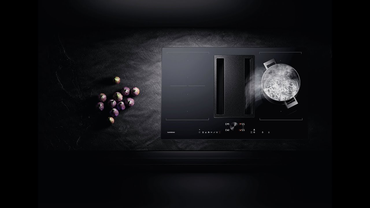 Gaggenau Flex Induction Cooktop With Integrated Ventilation System