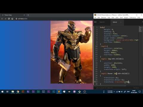 Thanos Snap Effect with CSS only No Javascript Tutorial thumbnail