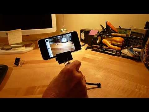 1 Minute $1 iPhone Tripod Adapter...works great! - YouTube