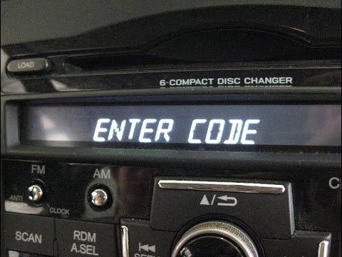 unlock decode radionavigation hondafrom serialcode  civic cr vodysseypilotlife