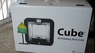 Unboxing Cube Personal 3D Printer from 3D Systems