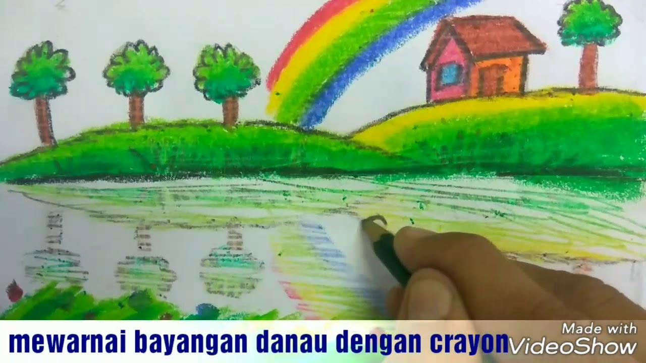 Cara Keren Mewarnai Pantulan Gambar Dengan Crayon Gradasi Dan Teknik