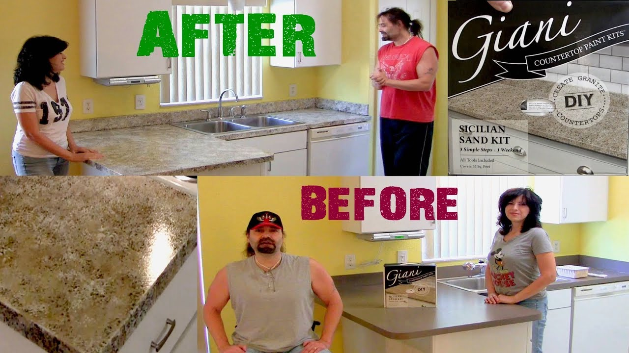 DIY- Countertop makeover using Giani Paint Kit- Step by Step
