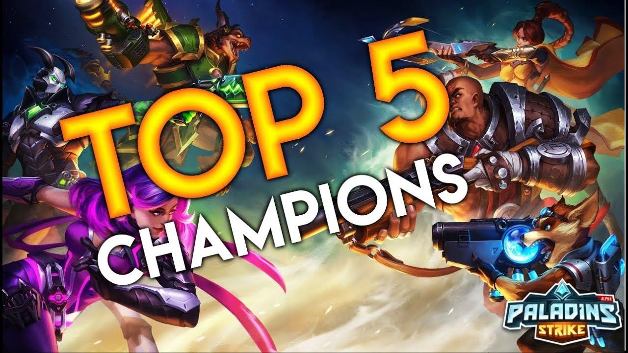 Paladins Best Champions 2020 Paladins Strike Top 5 Champions   YouTube