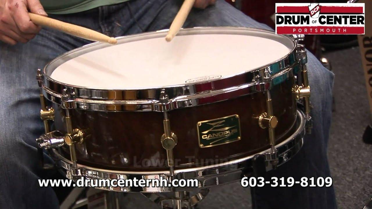 canopus 14x5 zelkova snare drum youtube. Black Bedroom Furniture Sets. Home Design Ideas