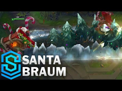 Santa Braum Skin Spotlight - Pre-Release - League of Legends