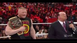 WWE Raw 3/23/15 - Brock Lesnar vs Roman Reigns Face to Face