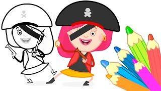 СМАРТА и Чудо сумка! Мультики для детей. #Раскраски Смарты - #Смарта пиратка!